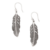 Silpada 'Etched Feather' Sterling Silver Drop Earrings