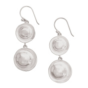 Silpada 'Retro Revival' Sterling Silver Double Circle Drop Earrings