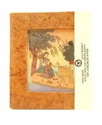 Eco Friendly Handmade Paper Journal with Gemstone Painting on the Cover