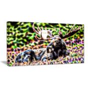 Digital Art PT2421-40-20 Abstract Moose Large Animal Wall Art