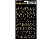 Joy JOY8501 Letter Shop Letter Iron On Sheet, 2.5cm , Metallic Gold