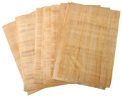 20 Blank Egyptian Papyrus Sheets for Art Projects and Schools 6x8 Inch (15x20 Cm) + 1 Bookmark gift