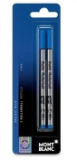 Montblanc Rollerball Refills Blue Fine 2 Per Pack
