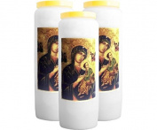 3 X Novena Candle - Our Lady of Perpetual Help