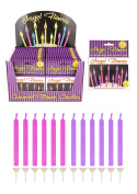 Angel Flames Mixed Pink Purple Birthday Cake Candles x 12