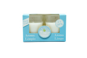 Pack of Two Ambientair Fresh Cotton Scented Candles