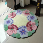 Thick Computer Chair Mats Beautiful Living Room Acrylic Floor Mats Round Coffee Table Mat Handmade Acrylic Mats