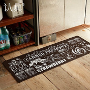 FQG*. kitchen as soon as possible the long kitchen floor mat anti-slip pad waterproof oil resistant flame retardant feet , canned black and white long 150cm 45cm×width×0.4cm, thick black and white canned