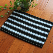 FQG*Thick mats anti-slip water absorption 3 colour fibre home Bathroom Slip-proof Mat input door mat foot pad ,40CM×60CM, black, blue-grey