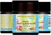 SWEET ALMOND OIL - BUTTER ORGANIC 100 % Natural / VIRGIN / UNREFINED / RAW. 4 Fl.oz.- 120 ml. For Skin, Hair and Nail Care.