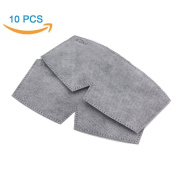 Pack-10 Pcs Antibacterial Activated Carbon Filters - WITERY Anti Dust / Anti-fog - Design For Antibacterial Activated Carbon Mask Adjustable Earloop Mouth Mask