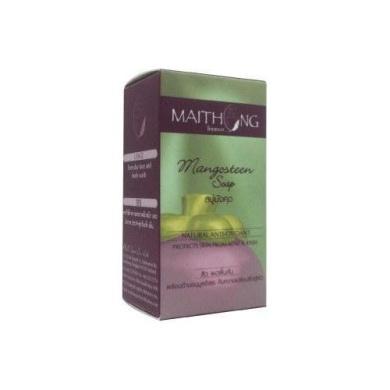 2 x Maithong(GlodenSilk): Mangosteen Soap Natural Anti-Oxidant (100g.) Thailand