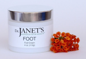 Dr. Janet's Balanced By Nature Products Foot Cream - With Organic Shea Butter and Peppermint Oil, Moisturiser For Callused Heels and Cracked, Dry Feet – 120ml