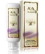 Natural Foot Cream for Cracked Feet - Vegan Premium Moisturiser for Dry Heels 130ml - Shea, Olive, Jojoba and Tea Tree Oils Blend