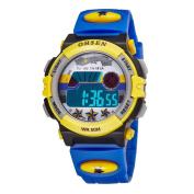 Aubig Colourful Watch Outdoor Sports Boys Girls LED Digital Alarm Stopwatch Waterproof Student Wristwatch Dress Gift Watch