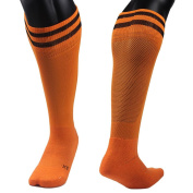 AMA(TM) Children Students Professional Knee High Outdoor Sports Running Soccer Football Socks for 9-13 Years