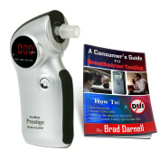AlcoMate Prestige AL6000 (Silver) Breathalyser and FREE Breathalyser Tester Guide - NEVER Needs Factory Calibration - FREE 2-3 Day Air Shipping! by BreathalyzersUSA