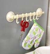 Mikey Store Kitchen Bathroom Removable Hanging Shelves Vacuum Sucker Towel plastic Hooks Hanger