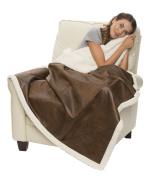 Sherpa Ranch Throw, premium Blanket, 0.9kg Each, 130cm X 150cm , BROWN