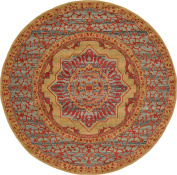 Traditional 1.8mes Round (1.8m Round) Palace Red Area Rug