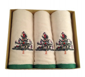 Spode Christmas Tree, Boxed Set of 3 Fingertip Towels