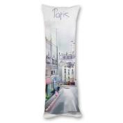 Yiuejiu Watercolour Paris Street Body Pillow Cover Decorative Pillowcase 50cm x 140cm
