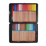 Marco Renoir Fine 48 Colours Water Soluble Drawing Pencil Set Non-toxic Pencils Tin Wooden Painting Artist Sketching Craft Graphite with Iron box