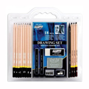 Pro Art 18-Piece Sketch/Draw Pencil Set, Arts and Crafts