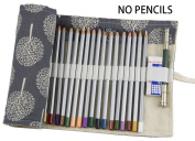 Hz.Codelo Canvas Pencil Wrap Roll up Case Hold for 72 Coloured Pencils, Travel Carrying Organiser Holder,Great for Kids Adult Colouring Book - ArtTrees