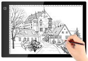 A4 Ultra-thin Portable LED Light Box Tracer USB Power Cable Dimmable Brightness LED Artcraft Tracing Light Pad Light Box for Artists Drawing Sketching Animation Designing Stencilling