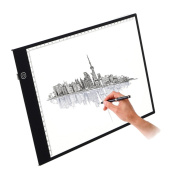 Light Box, M.Way Dimmable Brightness A4 9x13 Inch 5mm USB Ultra Thin LED Light Table/Tracing Light Box For Artists, Drawing, Sketching, Animation