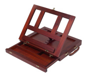 ZagGit Desktop Adjustable Mahogany Wood Art and Book Easel, with Drawer