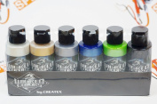 Createx Wicked Colours Pearl Set Airbrush Paint Water Based 6 60ml W105