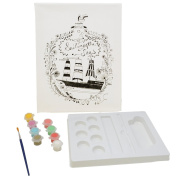 Canvas Painting Kit - 20cm x 25cm - Ship in Bottle