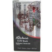 AQUAnaut Flow Refillable Water Brush Pen Set - 3 Ink and Paint Art Pens, Plus Fill Tool