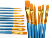 Home Office U.D. - Paint Brush Set Acrylic 10pcs Professional Paint Brushes Artist for Watercolour Oil Acrylic Painting