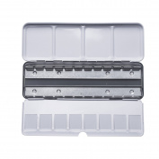 MEEDEN Empty Metal Watercolour Tins Box - Will Hold 24 Half Pans or 12 Full Pans