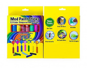 Mod Paint Sticks - Solid Tempera Paint for all ages, 12 vibrant colours, non-toxic and washable