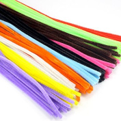 """12 """"6mm 100pcs Multicolour Chenille Stems Pipe Cleaners Handmade Diy Art & Craft"""