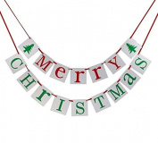 Miss.AJ Merry Christmas Banner Bunting Garland Party Home Decorations