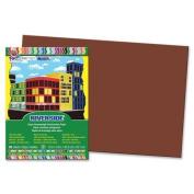 Riverside Construction Paper, 34kg., 30cm x 46cm , 50/PK, Dark Brown