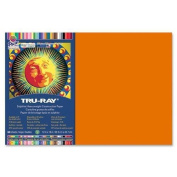 Tru-Ray Construction Paper,34kg.,30cm x 46cm , 50/PK, Orange