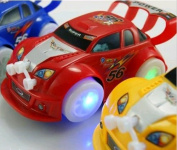 Kid Toys Christmas Automatic Steering Flashing Music Racing Car Electric Toy Car