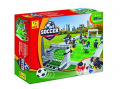 Brickland Soccer Game Building Bricks Toy Set with Football Field and 10 Players, 381 Pieces