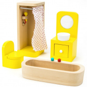 Wooden Wonders County Bathroom Set Dollhouse Furniture (4pcs.) by Imagination Generation
