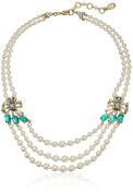 Ben-Amun Jewellery Golden Era Bow Pearl Strand