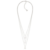 Silpada Sterling Silver Descending Disc Layered Necklace, 16+5.1cm Extender