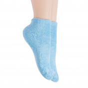 Bucky Aloe-Infused Moisturising Comfortable Spa Socks for Pedicure Protection, Blue, 0.1kg