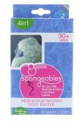 Spongeables 30+ Uses 4 in 1 Pedi Scrub Infused Foot Buffer w/ Blackberry Basil Scent 60ml/56 g