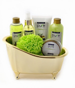 Pure Deluxe Spa Gift Basket- Hydrating Olive Oil Skin Therapy Kit Luxury Gift - Wrapped And Ready to Deliver Results!